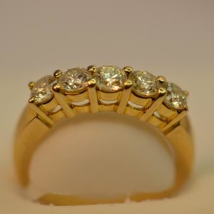 14 KT Diamond Ring Size M 1/2