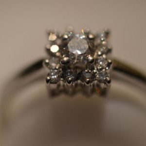 Platinum Diamond Ring size O