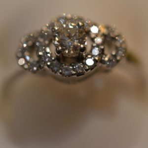 Platinum and Diamond Ring Size M