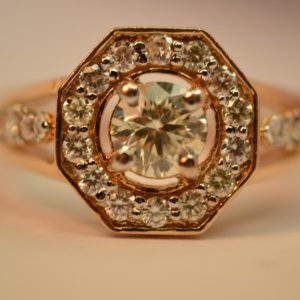 Superb 14KT Diamond Ring Size O